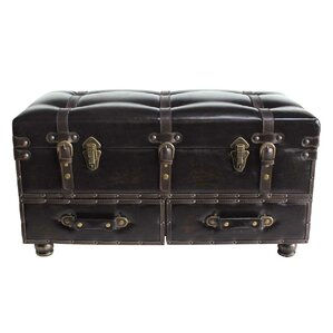 Karim Faux Leather Trunk