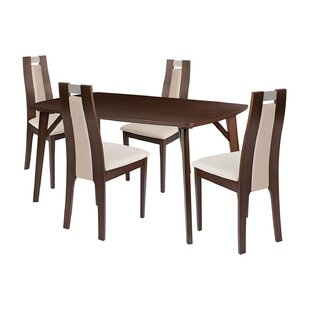 Yara 5 Piece Solid Wood Dining Set by Ebern Designs