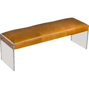 Interlude Alden Leather Bench