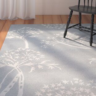 Mandy Hand-Tufted Light Blue/Ivory Area Rug by August Grove