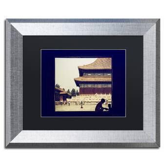 Trademark Art White Plaza By Philippe Hugonnard Framed Photographic Print Wayfair