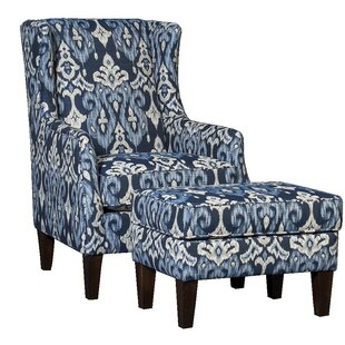 Bloomsbury Market Huckins Wingback Chair and Ottoman