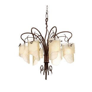 Shery LED Shaded Chandelier by World Menagerie