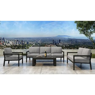 Iliana 5 Piece Deep Seating Group With Sunbrella Cushions (Set Of 5) by 17 Stories Modern