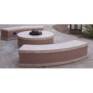 Santa Cruz Concrete Gas Fire Pit Table By Kokomo Grills