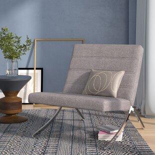Wade Logan Balderas Linen Lounge Chair with Metal Leg