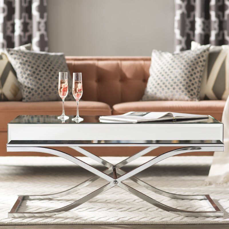 Jeannie Mirrored Coffee Table