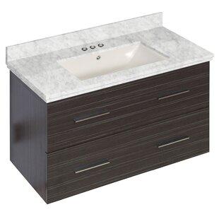 Hinerman 36 Wall-Mounted Single Bathroom Vanity Set by Royal Purple Bath Kitchen