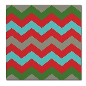 'Xmas Chevron 7' by Color Bakery Graphic Art on Wrapped Canvas