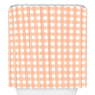 Check Single Shower Curtain