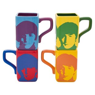 The Beatles 4 Piece Coffee Mug Set