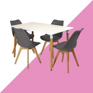 Faizan Dining Set With 4 Chairs By Hashtag Home