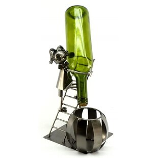 Man on Ladder 1 Bottle Tabletop Wine Rack..