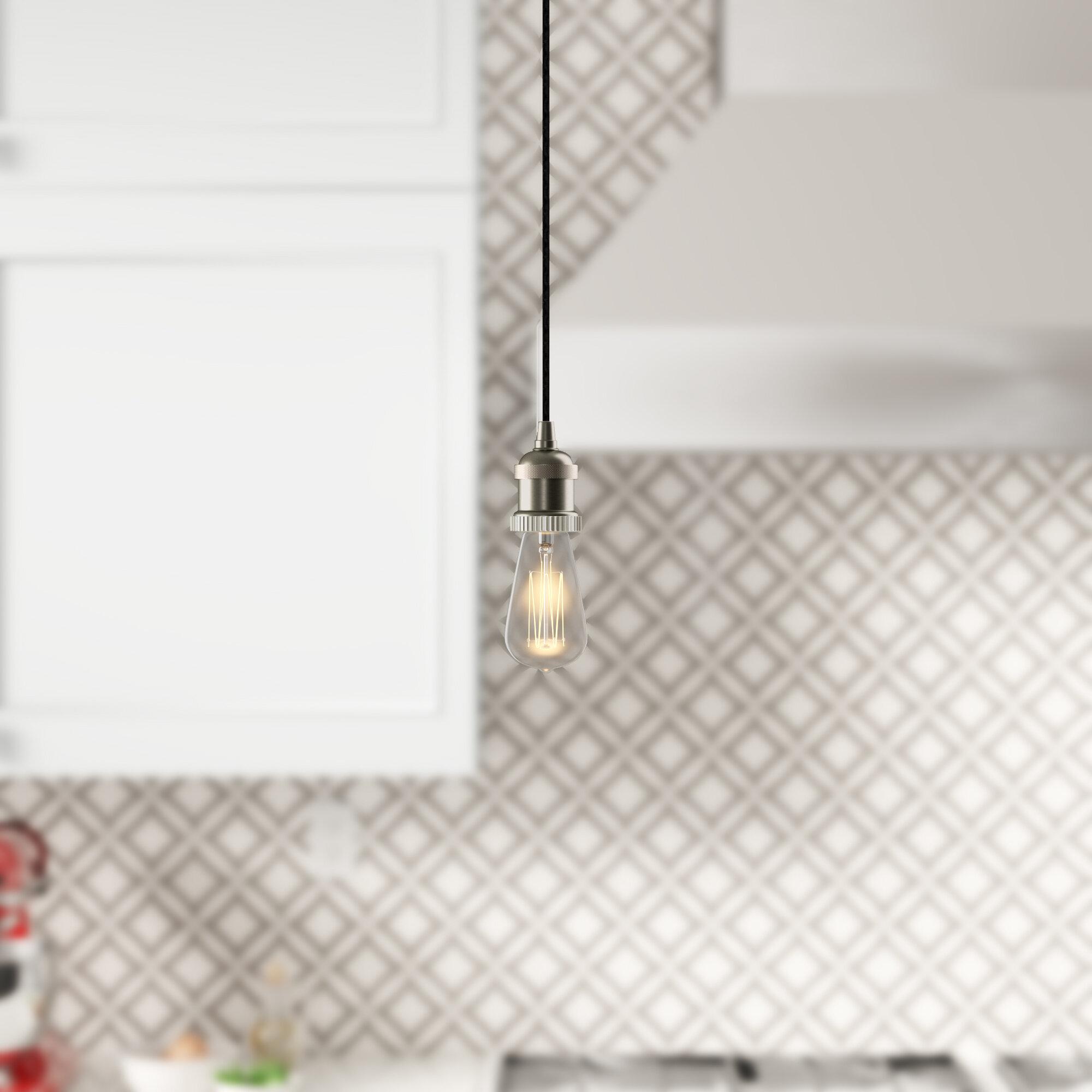 Williston Forge Mignone 1 Light Single Bulb Pendant Reviews Wayfair