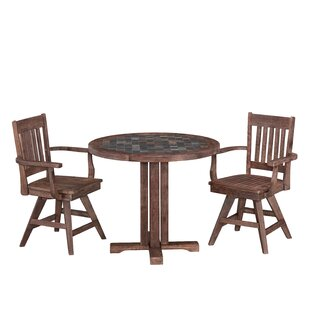 Lakewood 3 Piece Dining Set Millwood Pines
