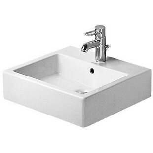 Bargain Vero Ceramic Rectangular Vessel Bathroom Sink with Overflow By Duravit