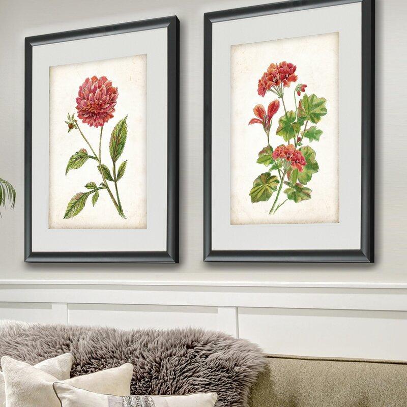 f8d82e8c914 Scarlet Botanical I  2 Piece Framed Graphic Art Print Set   Reviews ...