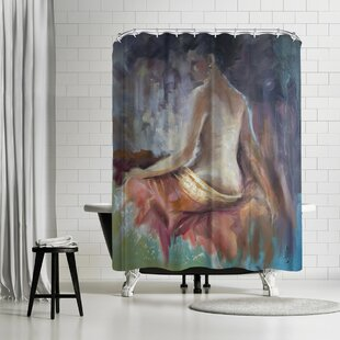 Anne Farrall Doyle Girl With Earing Single Shower Curtain