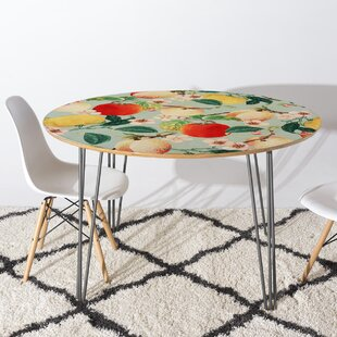 83 Oranges Fruity Summer Dining Table by East Urban Home Great Reviews