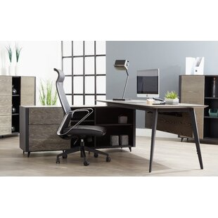 Francella Solid Wood Desk by Comm Office 2019 Coupon