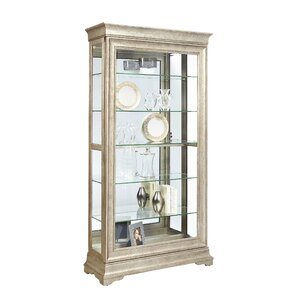 Port Pirie Lyon Lighted Curio Cabinet by ..
