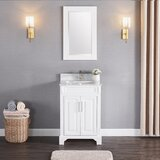 Exquisite Home 24 Single Bathroom Vanity Set with Mirror by Charlton Home