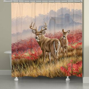 Molchadsky Deer in Lifting Fog Single Shower Curtain
