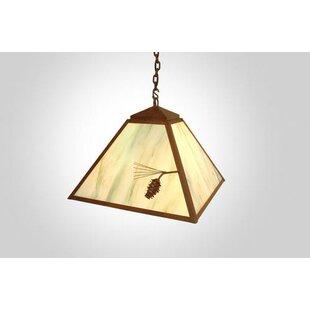 Steel Partners Ponderosa Pine 1-Light Dome Pendant