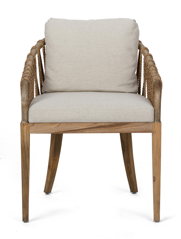 Brownstone Furniture Tulum Slat Back Arm Chair In Praline Wayfair