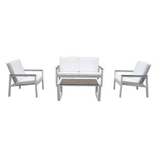 Orren Ellis Chamlee 4 Piece Sofa Set with Cushions
