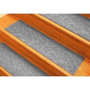 Aqua Shield Medium Gray Fall Day Stair Tread (Set Of 4)