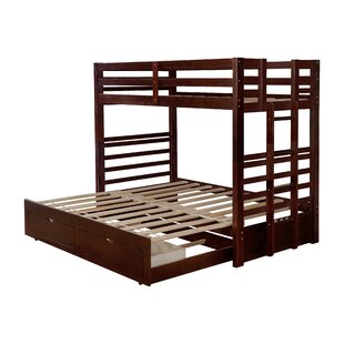 Chidsey Twin Bunk Bed with Trundle and 2 Drawers by Harriet Bee