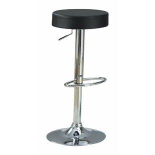 Orren Ellis Woolfolk Stylish and Elegant Backless Adjustable Height Swivel Bar Stool
