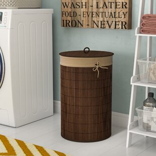 World Menagerie Bamboo Laundry Hamper
