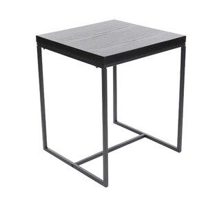 Gomes Metal Wood End Table by Varick Gallery