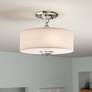 Luciano 3-Light Semi Flush Mount by Orren Ellis