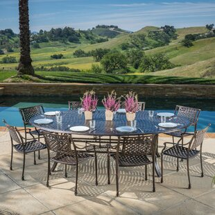 Brain Outdoor Aluminum 9 Piece Dining Set