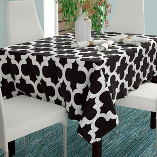 Eleanore Geometric Rectangular Cotton Tablecloth