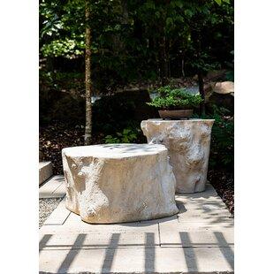 Log Roman Stone Coffee Table