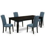 Alura 5 Piece Extendable Solid Wood Dining Set by Winston Porter