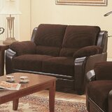 Victorine 59 Wide Leather Match Pillow Top Arm Loveseat by Winston Porter