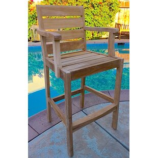 Trijaya Living Borneo Teak Patio Bar Stool