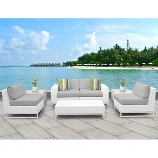 TK Classics Miami 7 Piece Sofa Set with Cushions