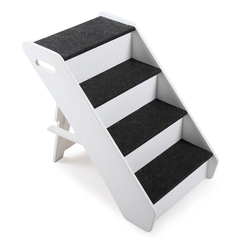 Tucker Murphy Pet Foldable 4 Step Pet Stair