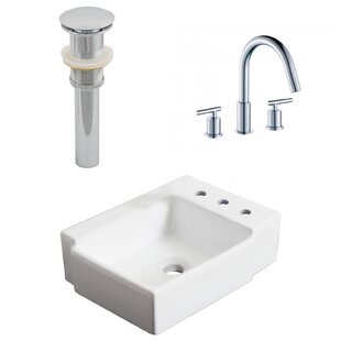 Compare Ceramic Rectangular Bathroom Sink with Faucet By American Imaginations