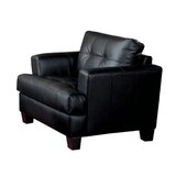 Belldon 42 W Tufted Faux Leather Armchair by Red Barrel Studio®