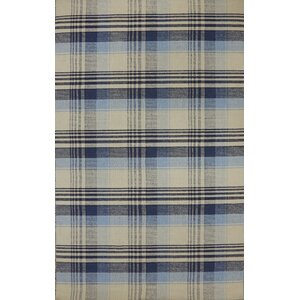 Pickering Hand Woven Wool Beige/Blue Area Rug