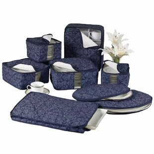 Damask China 8 Piece Dinnerware Storage Set