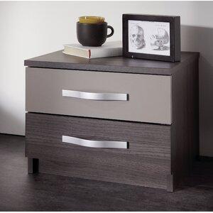 Nachttisch Debno mit 2 Schubladen von Home Etc