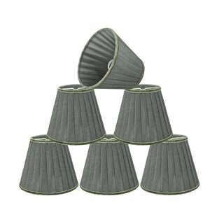 Modern Pleated 5'' Fabric Empire Lamp Shade (Set of 6)